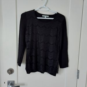 Cleo lace overlay sweater